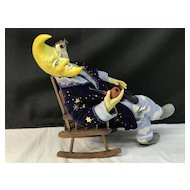 PETER WOLF Signed ONE-OF-A-KIND Moon Man Doll - Bavarian Artist-Dollmaker OOAK