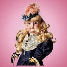 """STUNNING 25"""" Doe-Eyed Girl Doll - Antique JD KESTNER Model 164 JDK Bisque German"""