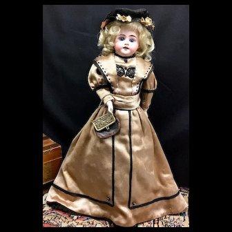 c.1890s Armand Marseille 1894 - Antique German Bisque Head Kid Body