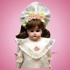 "Antique 16"" J D Kestner 147 JDK - BEAUTIFUL German Bisque Head Doll on Kid Body"