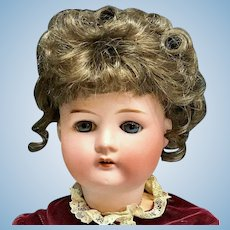 """Antique 23"""" Cuno Otto Dressel # 1912-4 -Beautiful Doll with Bisque Head by Simon & Halbig"""