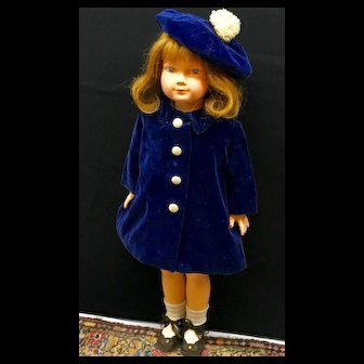 """1930s DEWEES COCHRAN - 20"""" American Children - Original Effanbee Composition Anne Shirley Character Doll"""