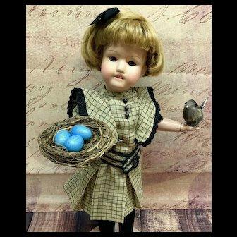 "c.1920s Schoenhut 16/317 Miss Dolly 16"" Wooden Doll Sleep Eyes Dolly Face 16 317"