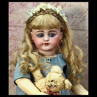 "c.1885 Rare & Ravishing 22"" S12H 719 SIMON & HALBIG Antique Doll - Bisque Head German S 12 H"