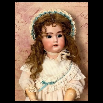 "23"" C M Bergmann II - Antique Doll in LOVELY OUTFIT - Bisque Head German"