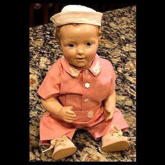 "c.1920s 12"" Jessie McCutcheon Raleigh Doll - ADORABLE Composition Sailor"