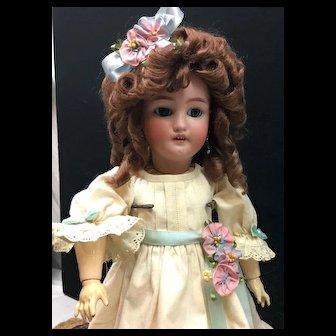 """18"""" C.M. Bergmann Simon Halbig #7 Doll - Antique Cabinet Size Bisque Head German"""