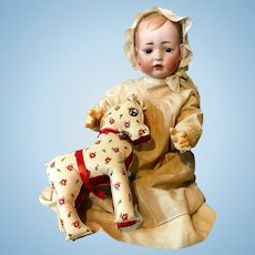 "22"" Rare TOMMY TUCKER Baby Doll c.1900 - 166-13 - Bruno Schmidt / Kley & Hahn - Antique Bisque Head Germany"