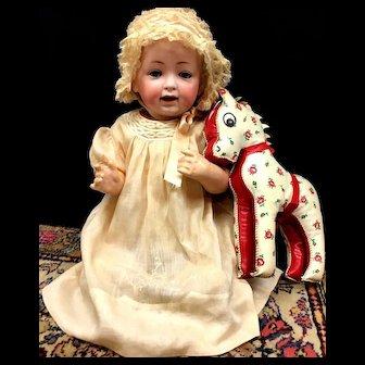 J. D. Kestner # 16 - Antique Baby Doll in Christening Outfit - Bisque Head German