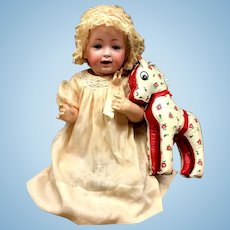 J. D. Kestner # 16 - Antique Baby Doll in Christening Outfit - Bisque Head German