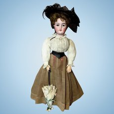 """""""Gibson Girl"""" Lady Body Fashion Doll - From the REGINA STEELE COLLECTION - with Antique Clothing - Simon & Halbig # 1159 German"""