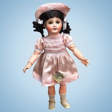 Jumeau UNIS France 301 - with Original Outfit & Tag - Antique Doll Bisque Head French