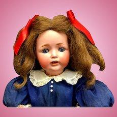"""JD KESTNER # 260 - Antique 26"""" Character Child Doll - Bisque Head German JDK"""