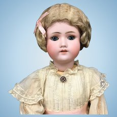 "24"" Early C.M. Bergmann / Simon Halbig Doll - Antique Bisque Head German CM S&H"