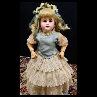 """19th-Century Early Kestner 14"""" CABINET SIZE # 7 Antique Doll - Bisque Head German JDK"""