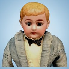 "American School Boy - 13"" Closed Mouth - RUTH MARIE GABORKO COLLECTION - Original Antique Doll - Bisque Head German - schoolboy"