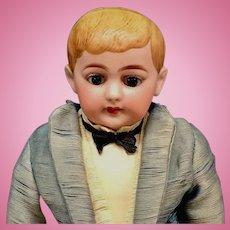 "American School Boy - 13"" Closed Mouth - RUTH MARIE GABORKO COLLECTION - Original Antique Doll - Bisque Head German - schoolboy"