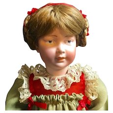 Rare ART CHARACTER DOLL (from Theriault's - with GOLD HORSE Hang Tag) - Closed-Mouth Armand Marseille A5M - Antique German Bisque Head