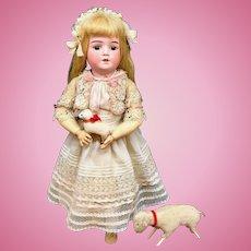 """22"""" Schoenau & Hoffmeister # 5500-7 Antique Doll - Bisque Head German"""