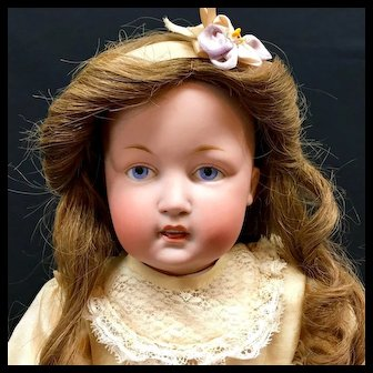 "Rare Kestner 18"" ART CHARACTER DOLL 180 Open-Closed Mouth Antique Bisque German"