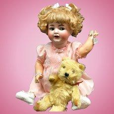 "22"" WOGGLE TONGUE / FLIRTY K*R Simon Halbig 126 Antique Doll Bisque Head German"