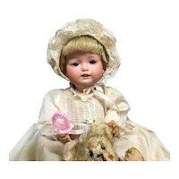 "Bahr & Proschild 12"" CHARACTER BABY CABINET DOLL # 604 4 (Made c.1900-1919) Bisque German Bebe Bébé Toddler"