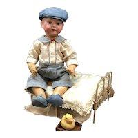 c.1890s - Hertel Schwab or Morimura - 3-11 Character Baby Doll Antique German Bisque Socket Head