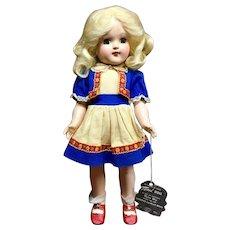 Vtg IDEAL TONI Platinum-Blonde w/ HANG TAG Tagged Dress P-91 Doll - Hard Plastic