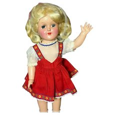 """15"""" IDEAL TONI Platinum-Blonde P-91 Tagged Vintage Original Doll - Hard Plastic"""