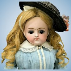 """Early 20"""" Kestner - French-Market Closed-Mouth Lady-Body Turned Shoulder-Head Fashion Doll - Bisque Head Germany"""