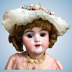 "Antique 21"" Heinrich Handwerck Bebe - FROM MARY ANN HALL ESTATE - Mold # 109-11 - Bisque Socket-Head German Bébé Doll"