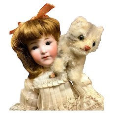 """Rare # 400 Teen Character - 12"""" Cabinet Doll by ARMAND MARSEILLE - FROM MARY ANN HALL ESTATE - Antique Closed Mouth German Bisque-Head"""