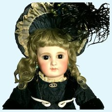 Early Jumeau - From MARY ANN HALL COLLECTION - Incised 6-EJ Closed Mouth Straight Wrist Antique French Doll bisque