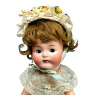 "Rare 12"" Heubach Koppelsdorf Googly - From MARY ANN HALL COLLECTION - # 417 Cabinet Character Doll Bisque Antique"