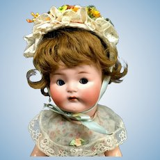 """Rare 12"""" Heubach Koppelsdorf Googly - From MARY ANN HALL COLLECTION - # 417 Cabinet Character Doll Bisque Antique"""