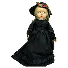 RARE 1940s Lenci BL-58 MERRY WIDOW - ALLEGRA Googly Vintage Felt Doll with Original Box BL58