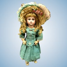 RAVISHING Tete Jumeau Bebe - From the MARY ANN HALL COLLECTION - 1907 #8 - Red Stamp & Dot - Antique Bisque-Head French Doll