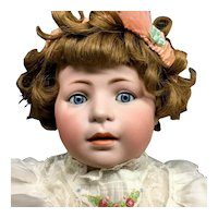 RARE Simon & Halbig Closed-Mouth # 1488 Character Toddler - German Bisque Head Antique Doll - art