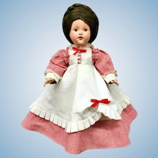 "Rare 14"" Dewees Cochran c.1939 - Historical Series - Character ""1868-POSTWAR"" Effanbee Composition Doll"