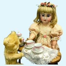 """Early 23"""" Bebe Jumeau 9 - Blue-Stamp Body """"BÉBÉ JUMEAU Diplôme d'Honneur"""" - Antique French Unsigned Bisque-Head Doll"""