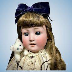 """24"""" Schoenau & Hoffmeister - # 1909 6 - Bisque Head Antique German Doll - PB-in-Star"""