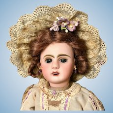 "Jules Steiner 12"" Bebe A56 Paris - Figure A - Antique Bisque Head French Doll"