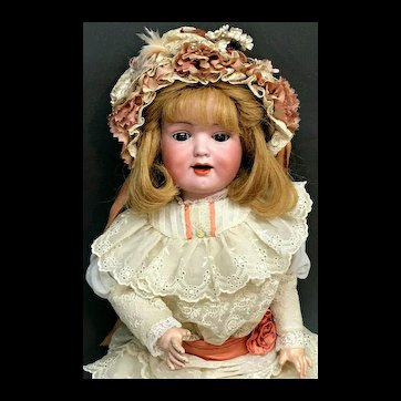 "Rare Mold - 19"" 590 A5M DRGM Armand Marseille - Antique Character Doll - Bisque Head German"