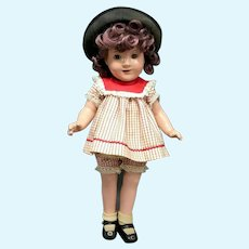 """Rare JANE WITHERS 15"""" Composition Doll by Madame Alexander - Vintage 1930s"""
