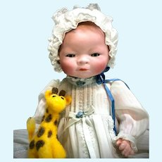 "12"" Bye-Lo Baby Grace Putnam COMPOSITION BODY 1369-30 - Antique Bisque German Socket-Head Doll"
