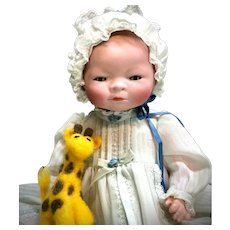 "12"" Bye-Lo Baby Grace Putnam COMPOSITION BODY 1369-30 - Antique Bisque German Socket-Head Doll"