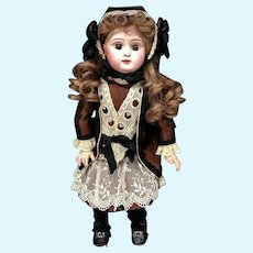 "Rare c.1891 PARIS BEBE 19"" - by Danel et Cie. - Original French Closed-Mouth Antique Doll"