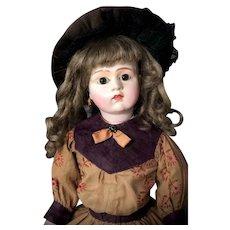 "c.1892 Ultra-Rare 20"" BRU - Carton Moule ( Paper Mache ) Head - Kid Poupee Lady Body - Antique French Doll"