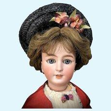 "22"" Simon & Halbig 1159 LADY on JUMEAU Lady Body Antique Bisque-Head German Doll"