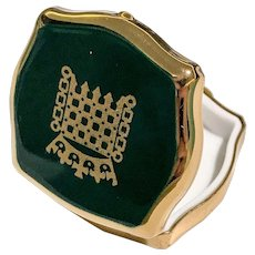 Stratton Green and Golden Vintage House of Commons Pill Box